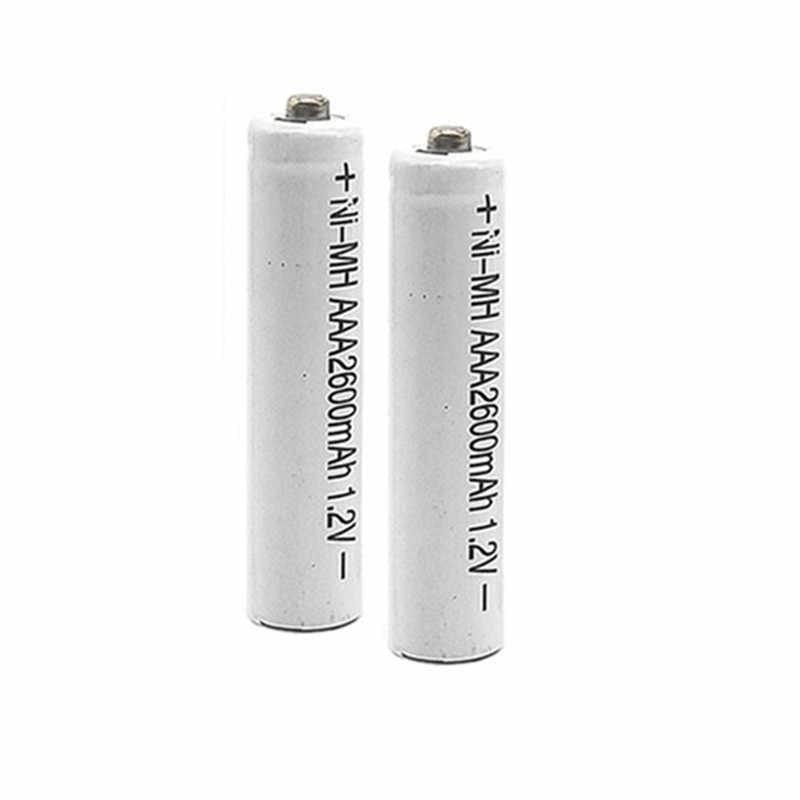 2/10 шт./партия Металл-гидридных или никель 2600 мАч AAA Перезаряжаемые батареи 1,2 V AAA Батарея металл-гидридных или никель Батарея для камеры, игрушки и т. д. Бесплатная доставка