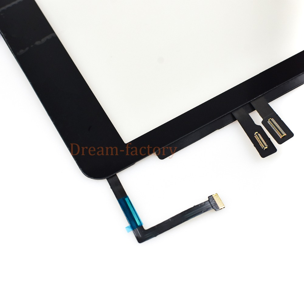 Image 5 - 10pcs For iPad 2018 A1893 A1954 Touch Screen Digitizer For iPad 6th includes Home Button +Camera holder+Adhesive-in Tablet LCDs & Panels from Computer & Office