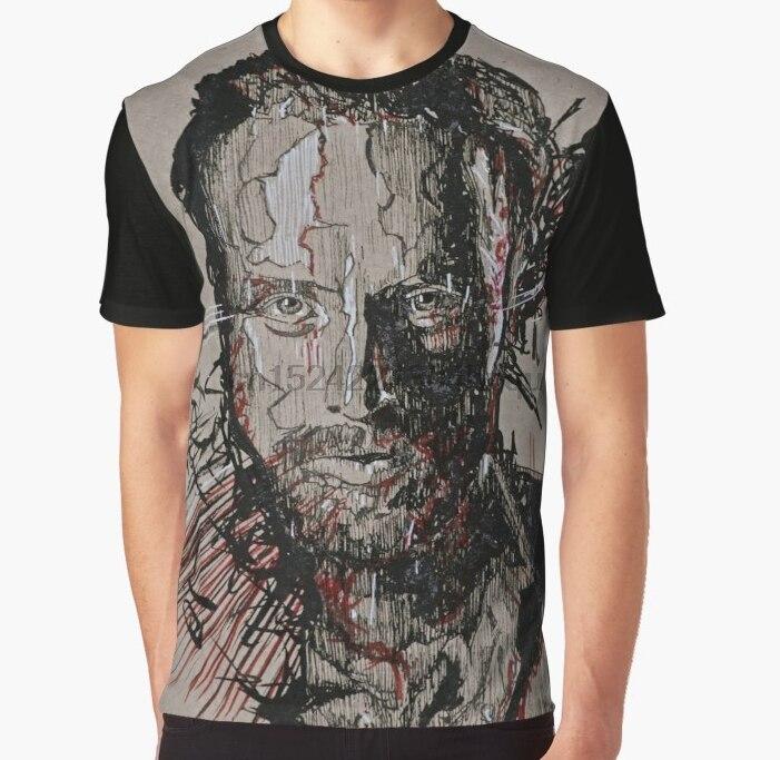 ALM786t-Mens Funny T Shirts-Eeeny Meeny Minie Baseball Bat Walking Dead Inspired