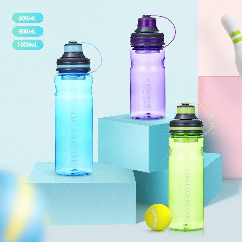 Grande Capacidade Portátil Garrafas De Água Inquebrável Com Intervalo de Chá de Alta Qualidade Durável Copo Garrafa de Esportes BPA Livre