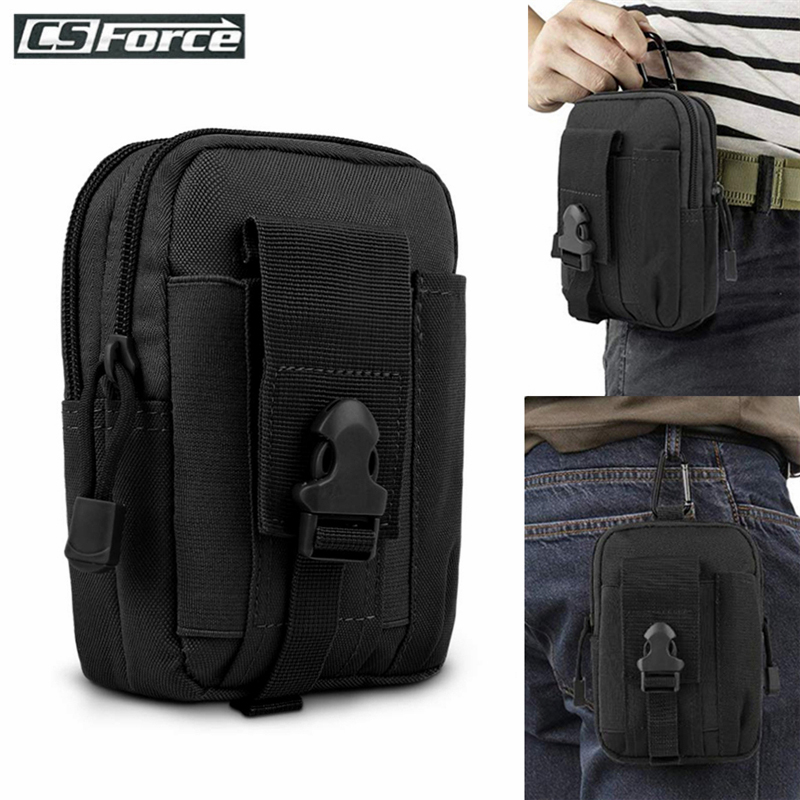 Tactical Molle Pouch Waist Pack Hunting Bag Belt Small Pocket Military Waist Pack Running Travel Camping Outdoor EDC Phone Pouch