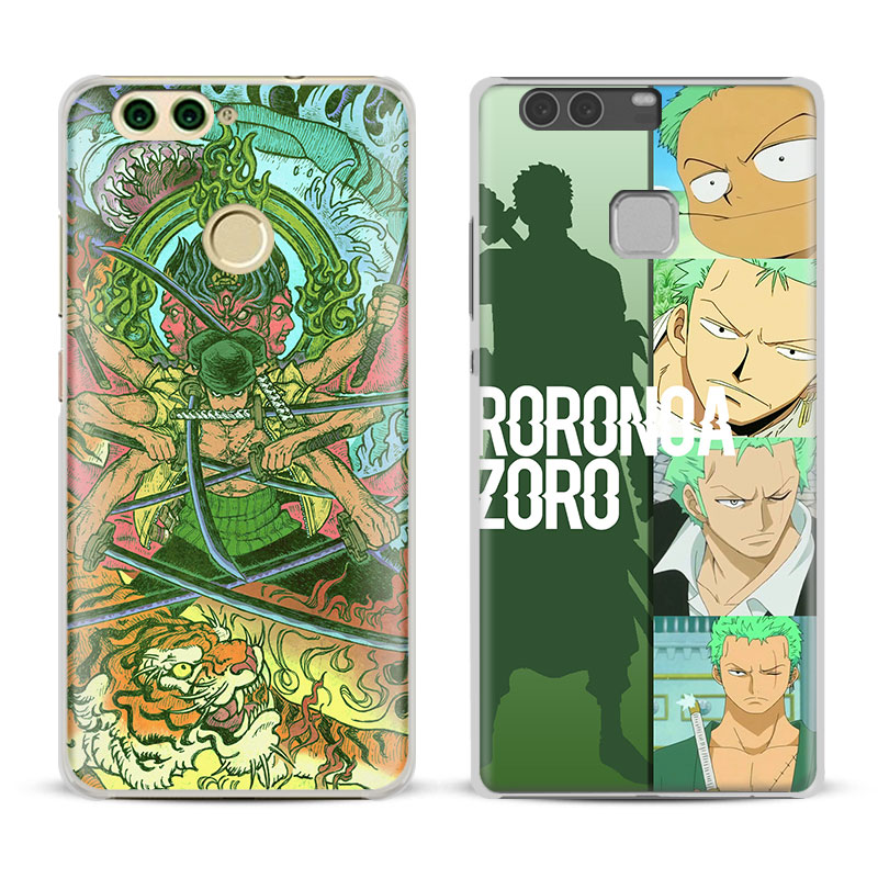 One Piece OP Roronoa Zoro Phone Case Cover Shell For Huawei P8 9 10 Lite 2017 Honor 6x 8 V8 V9 V10 Mate 8 9 10 Pro Nova Plus 2