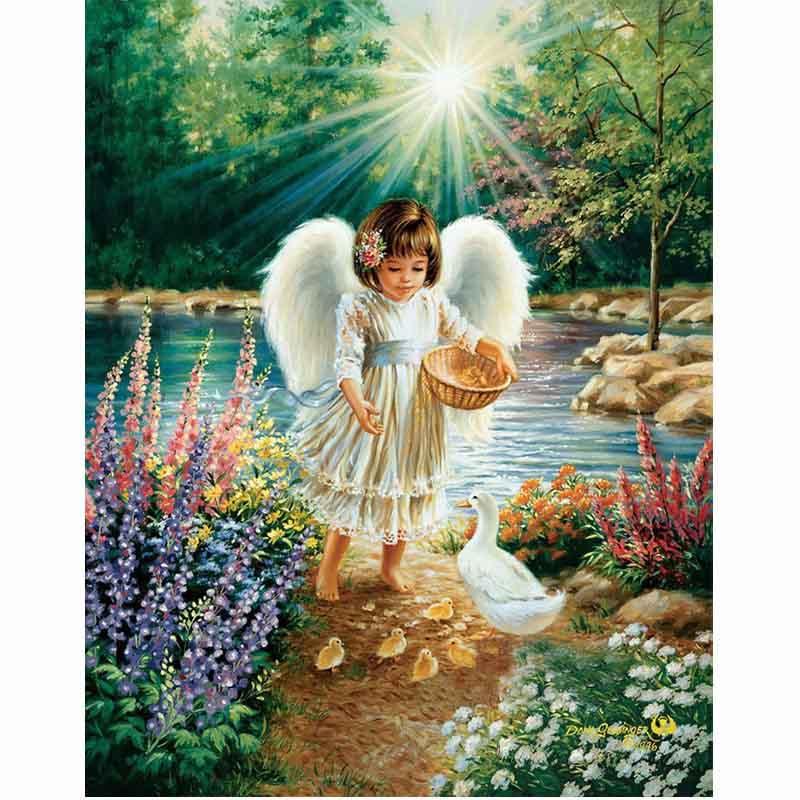 5D diy gyémánt festés keresztöltés 5d gyémánt hímzés Angel pick virág kézimunka inlay lakberendezési festészet