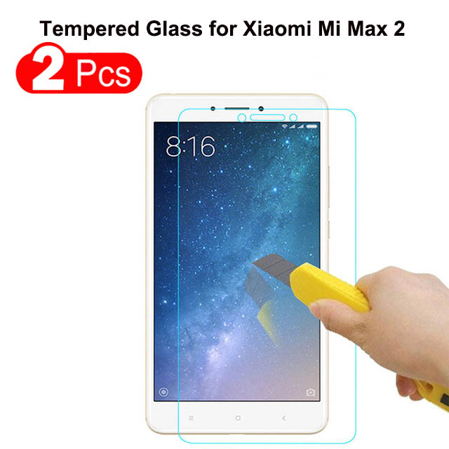 Screen-Protector-Film Tempered-Glass Xiaomi Mi-Max 9H For 2PCS Premium