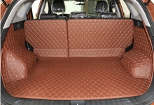 Good carpets! Special trunk mats for Hyundai Tucson 2017-2016 durable waterproof boot carpets cargo liner mats,Free shipping