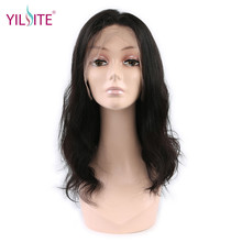 YILITE 360 Lace Frontal Wig 180% Density Human Hair Wigs For Women Body Wave Indian Remy Hair Natural Black Color(China)