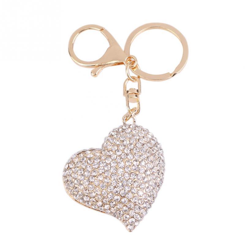 Party Wedding Favours 10pcs Keychain Key Ring Heart‑Shaped Buckle Keyring Charm Pendant Gift Bag Decor 乳粉