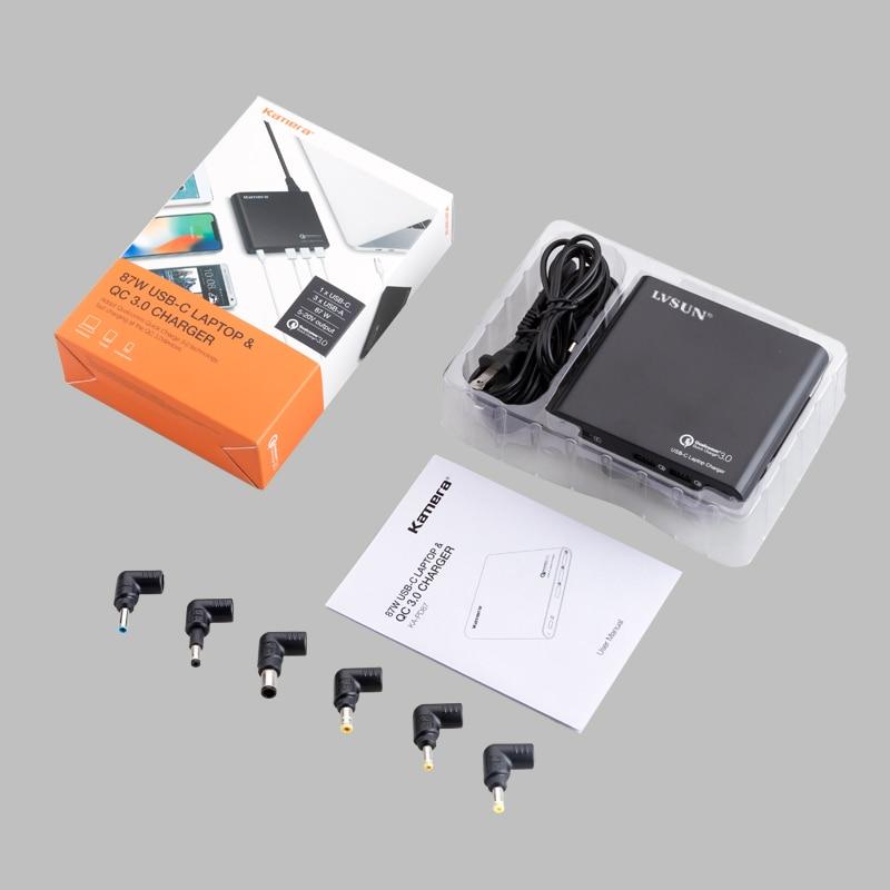 LVSUN universel QC3.0 USB C chargeur USB-C adaptateur pour ordinateur portable avec 3 USB A chargeur rapide pour Macbook HP Spectre 13 Yoga 5 Lenovo DELL - 5