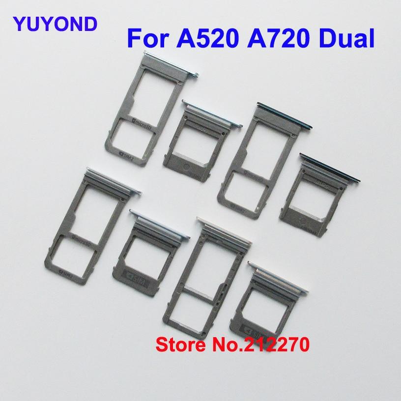 YUYOND gniazdo karty Sim taca i podwójny karty Micro SD uchwyt na Samsunga Galaxy A5 A7 2017 A520 A720 taca Sim w celu uzyskania sprzedaż hurtowa w Adaptery kart SIM od Telefony komórkowe i telekomunikacja na AliExpress - 11.11_Double 11Singles' Day 1