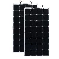 2pcs/Lot 100W 12V Monocrystalline Solar Panel Semi Flexible Efficiency Solar Panel Battery Charger For RV Boat Battery Charge