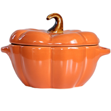 Хэллоуин тыква в форме помидора бинауральная чаша с крышкой миска для выпечки разделенная вода тушеная керамическая чаша с крышкой десертный суповой чаша