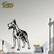 High Quality Animal Home Decor Wall Sticker Dog Vinyl Removable Self Adhesive Great Dane Wall Decal Decor Living Room