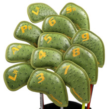 CHAMPKEY NEW Original Design Golf Iron Headcover 12 PCS/SET High Quality Pu Leather Head Cover