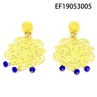 Yulaili Free Shipping 2019 Hot Sale Gold colors Flower Design Pendant Earrings Elegant Jewelry Women Valentine Gifts
