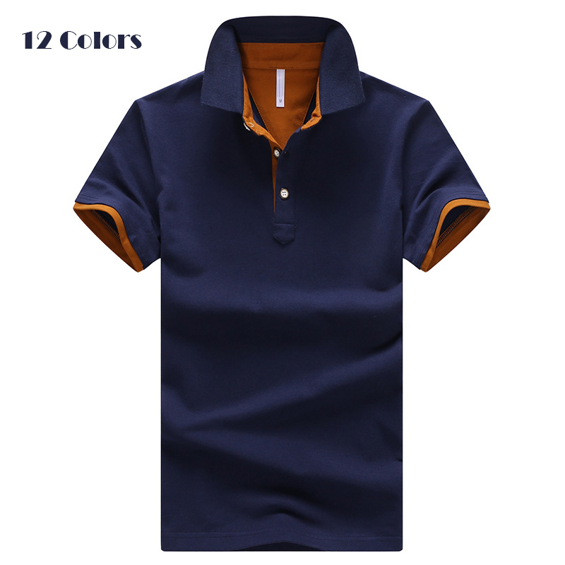 Summer Mens Polo Shirts Cotton V-neck Short Sleeve Men Shirt Plus Size 4XL,Polos pour hommes manches courtes en coton