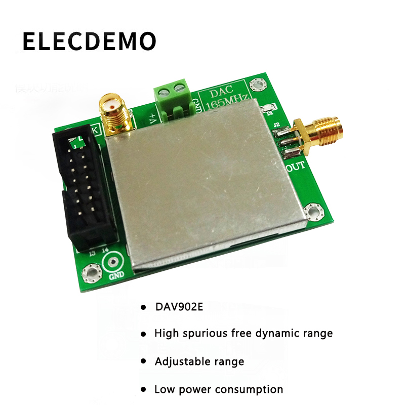 DAC902E Module High Speed DA Digital to Analog Conversion Module  High SFDR 12 Bit 165MSPS Conway Technology Function demo Board-in Demo Board Accessories from Computer & Office