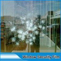 SUNICE 1*30m Roll Window Film Transparent Safety Security Film 90% UV Proof PET Film Splash Protective Vinyl Film 40x1181
