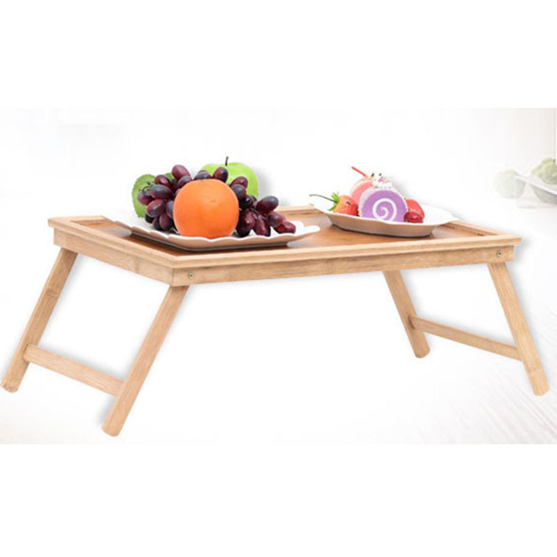 Foldable Portable Bamboo Laptop Desk Notebook Desk Simple Dining Table For Sofa Bed Laptop Table On The Bed Picnic Tables(China)