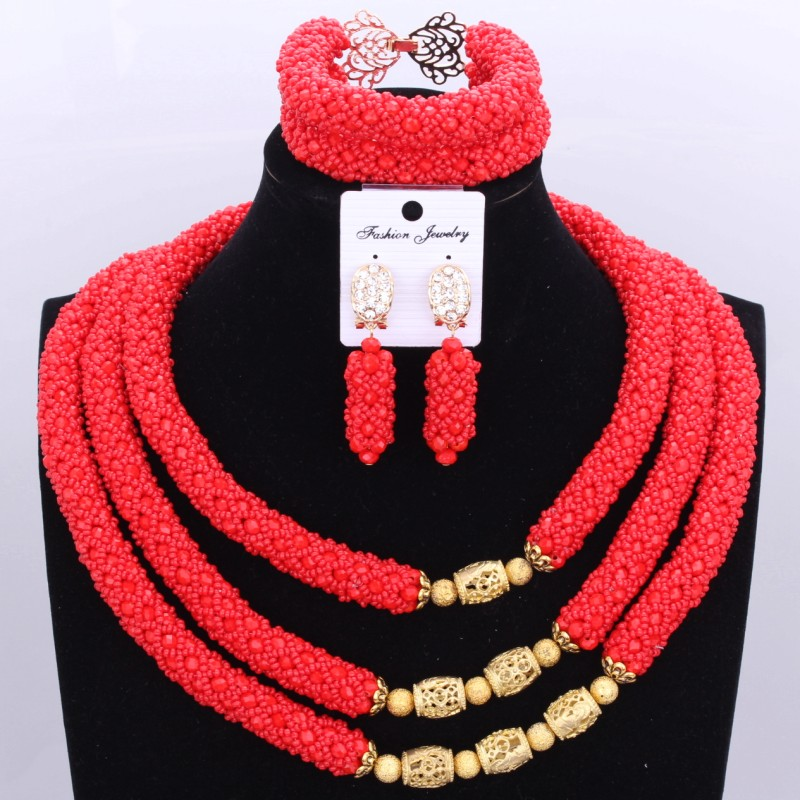 4UJewelry Fine Jewelry Sets With Gold Balls Necklace Set African Beads Set For Women Pink Nigerian Necklace Beads Jewelry Set все цены