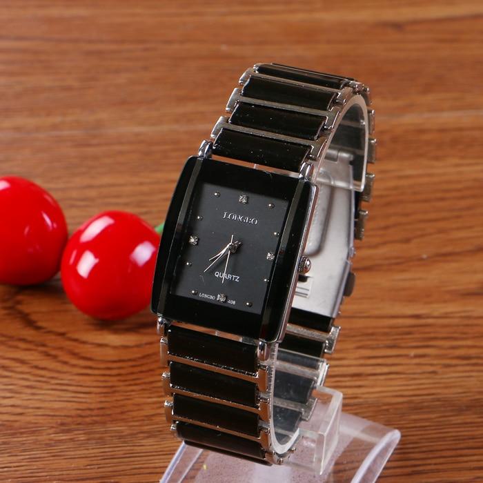 Top Quality Women Man Couple Exquisite Business Watches Quartz Clock Ceramic Longbo Brand Lady Luxury Gift Fashion Wristwatches
