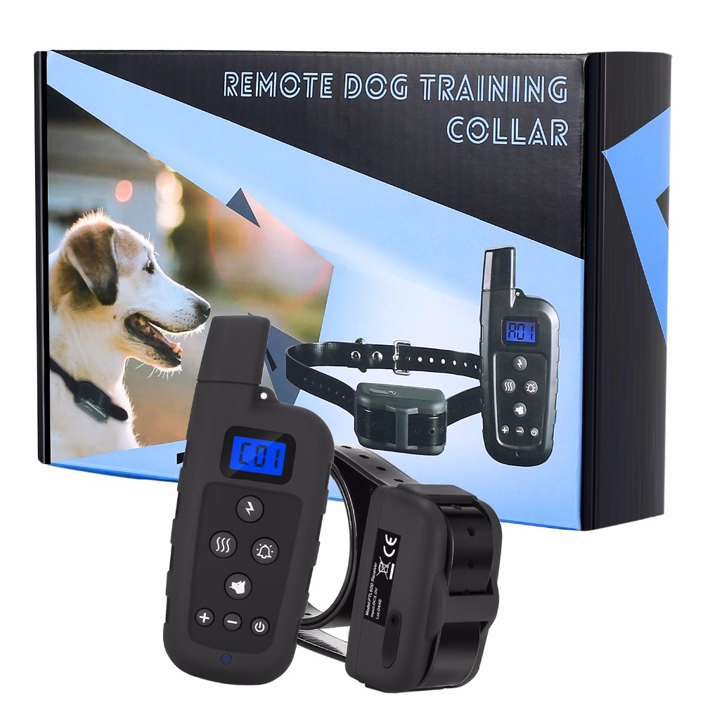 600 Meters Remote Control Electric Shock Anti-Bark Pet Dog Cat Training Collar with LCD