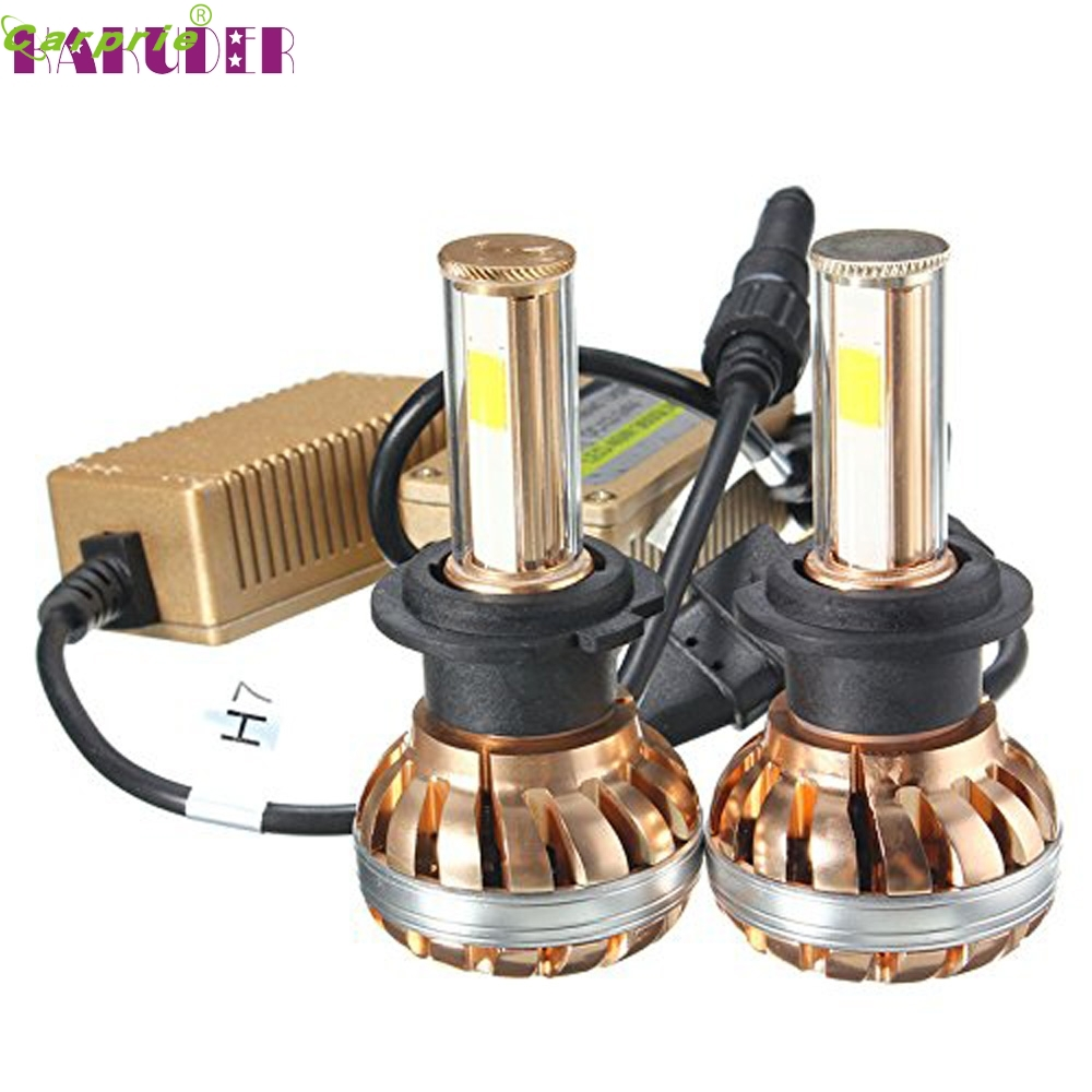 2017car-styling NEW Easy Installation H7 120W LED Headlight Kit 6000K White Car Bulb Lamp Light SEP 6 ...
