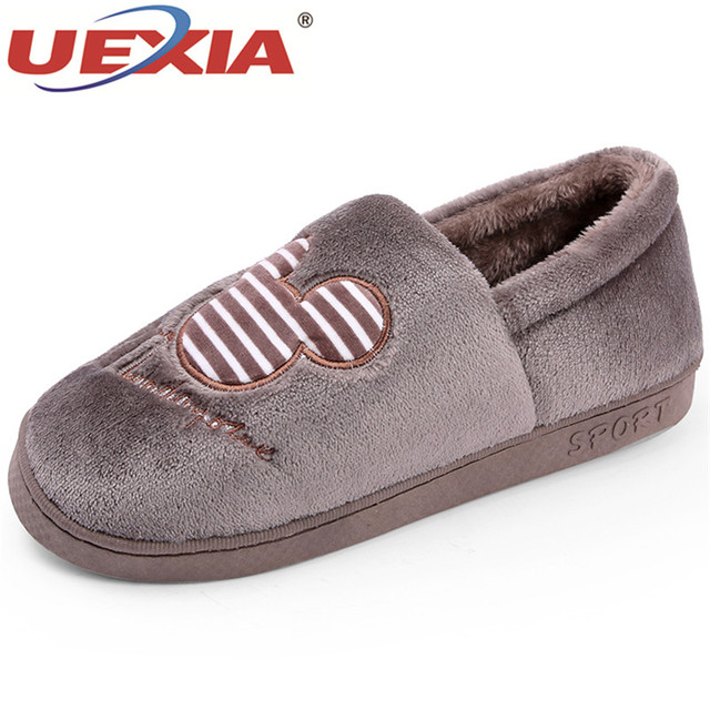 Uexia Winter Men Shoes Mouse Creative Fun Home Slippers Warm Spring