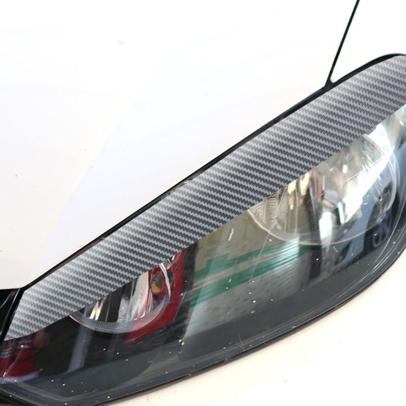 new version carbon fiber sticker for volkswagen vw golf 6 gti r20 forming light eyebrow eye. Black Bedroom Furniture Sets. Home Design Ideas