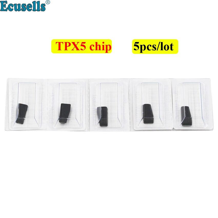 5 pièces/10 pièces puce clé JMA TPX5 puce en céramique transpondeur puce cloner = TPX1 (4C) + TPX2 (4D) + TPX4 (46) (carbone) 3 en un