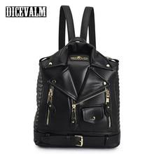 Famous Brands Women Backpack Leather Black Backpack School Bags For Teenage Girls Travel Backpack Female Suit Shoulder Bags