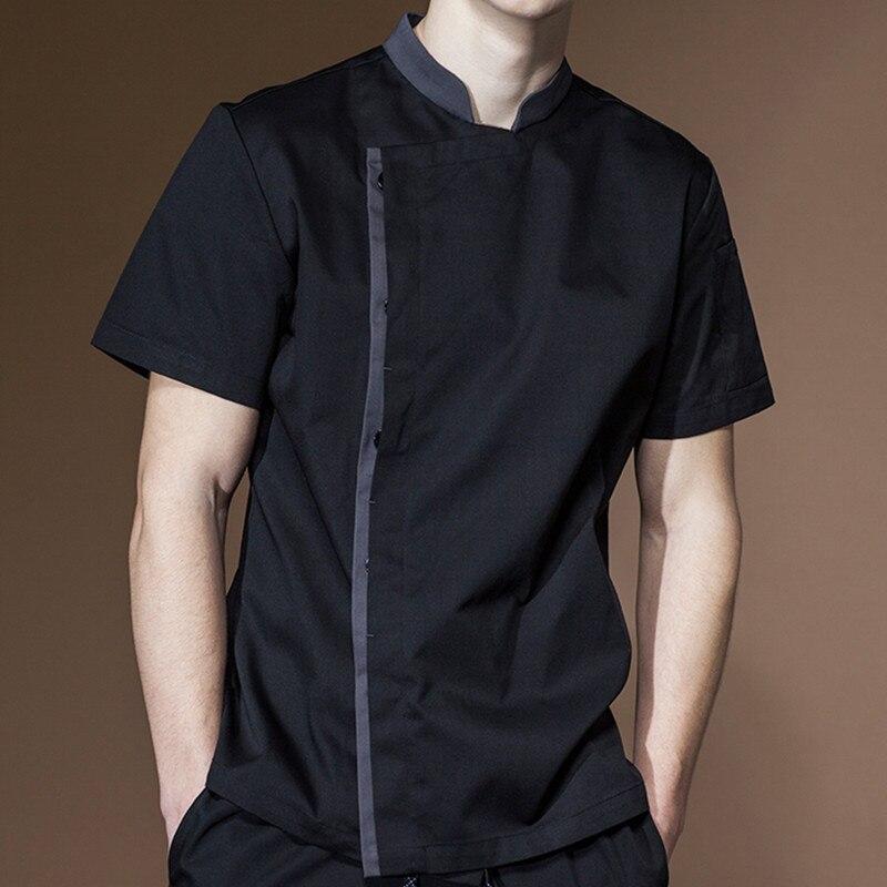 Short Sleeve Summer Chef Shirt Hotel Restaurant Kitchen Waitstaff Jacket Culinary Uniform Bistro Baker Catering Work Wear E26