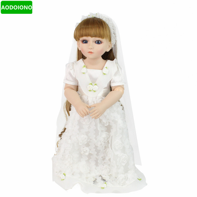 48cm Cute Reborn Baby Dolls Wedding Dress Simulation Baby ...