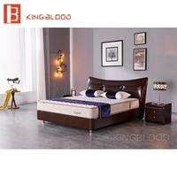 antique queen size solid wood bed frame furniture genuine leather bedroom set