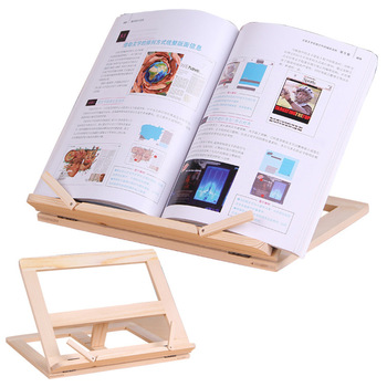 Wooden Frame Reading Bookshelf Bracket Book Reading Bookend Tablet PC Support Music Stand Wood Table Drawing Easel Stationery 1