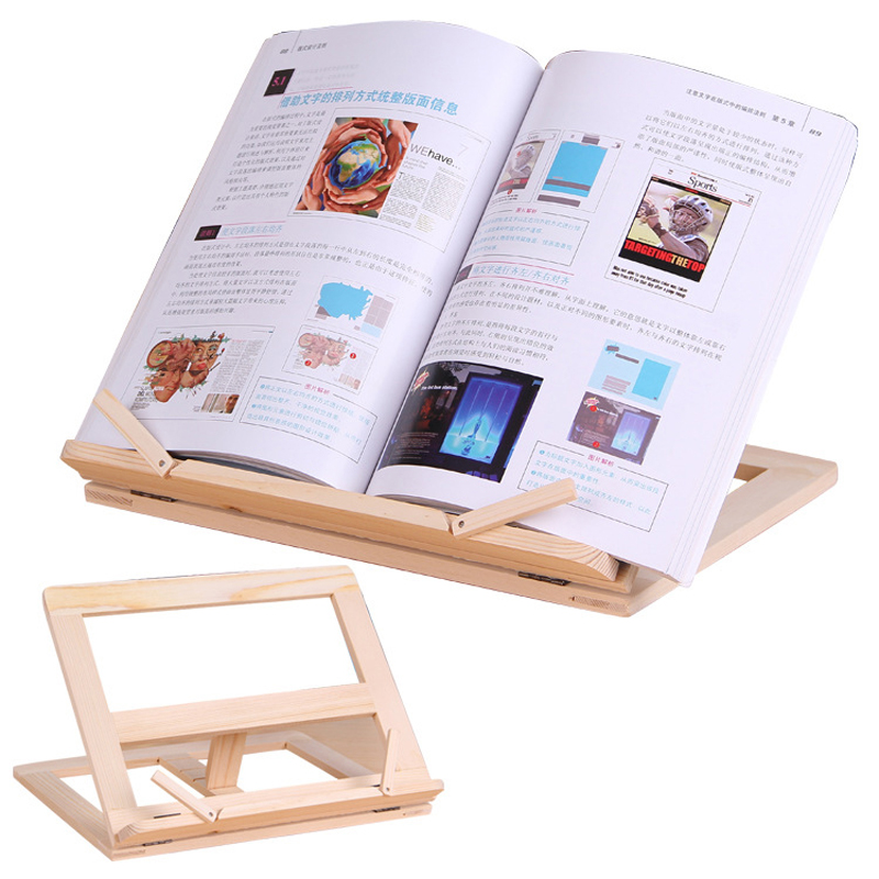 Wooden Frame Reading Bookshelf Bracket Book Reading Bookend Tablet PC Support Music Stand Wood Table Drawing Easel Stationery