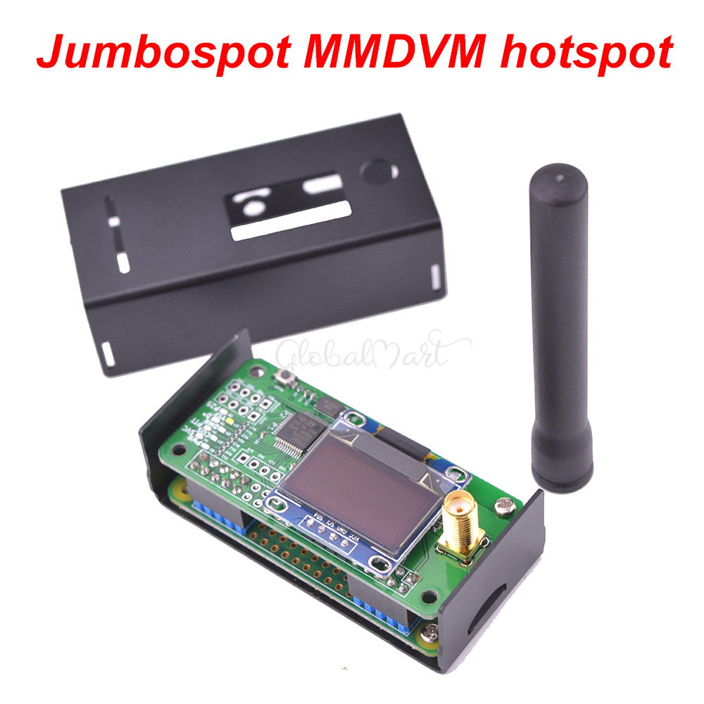 Jumbospot MMDVM hotspot สนับสนุน P25 DMR YSF + Raspberry pi + OLED + เสาอากาศ + สีดำ + 16G TF card พร้อม QSO-ใน ชิ้นส่วนและอุปกรณ์เสริม จาก ของเล่นและงานอดิเรก บน   1