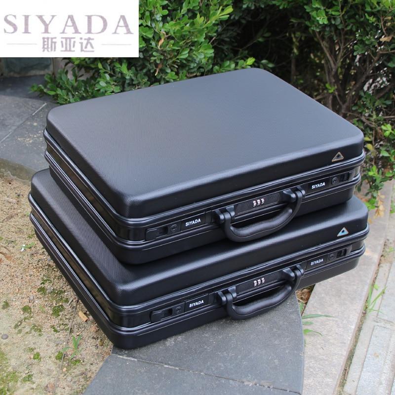 Купить с кэшбэком aluminium toolbox abs tool case Aluminum frame Business laptop bag advisory suitcase Man portable suitcase briefcase handbag box