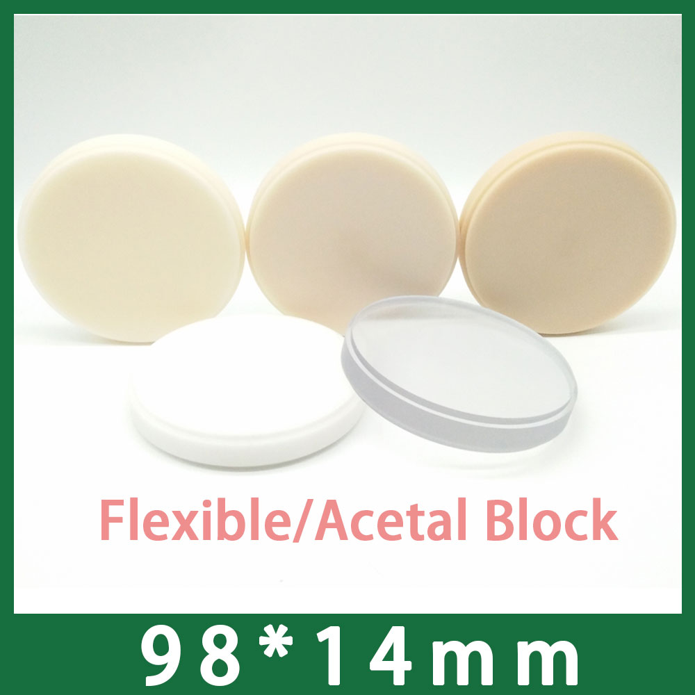 98x14mm Dental Acetal Flexible Block Disk Available in A0 A1 A2 A3 Translucent