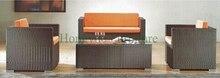 Home rattan sofa set furniture wicker sofa set for living room