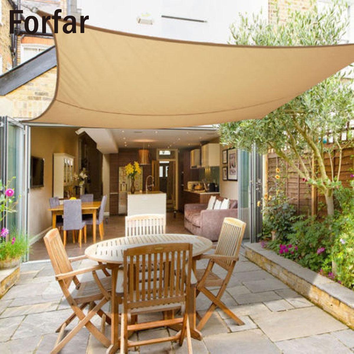Imperméable à l'eau Rectangle soleil ombre voile Patio protection solaire auvent auvent jardin écran bloc UV couverture supérieure pour abri solaire extérieur