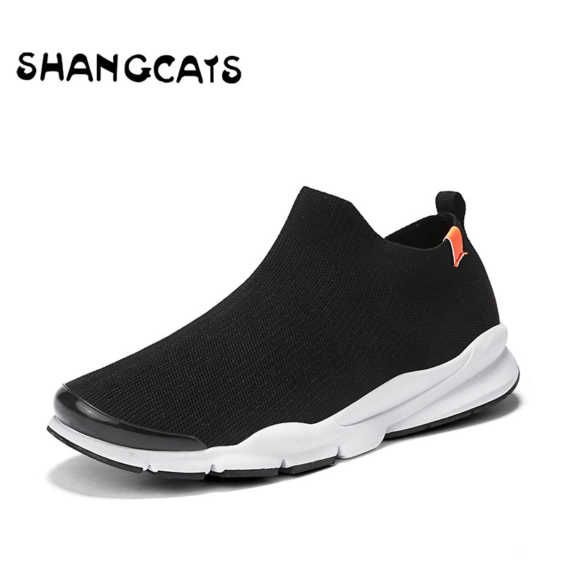De white Style Sport D'été Hommes Lacent Chaussures Black Super Chaussettes Beathable Sneakers Chaussette Confort Mocassins xwAwq06TXf