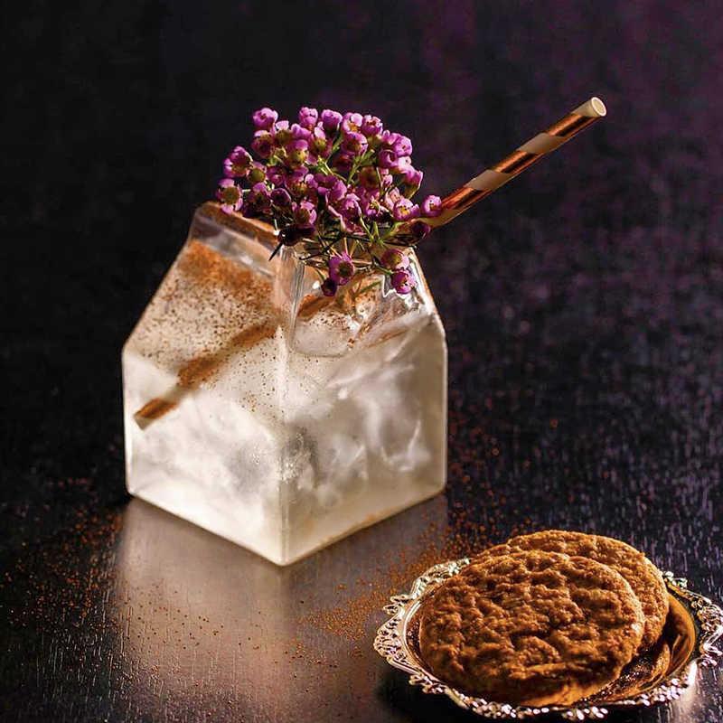 Darmowa wysyłka 4 szt. 260ml kwadratowe kieliszki koktajlowe mleko/szklanki soku mleczny komplet kieliszków 4 szt