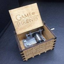 High quality Game of Thrones Star Wars Xmas Gifts Crafts Christmas Theme Handmade Engraved Wooden Music Box Cosplay Accessories