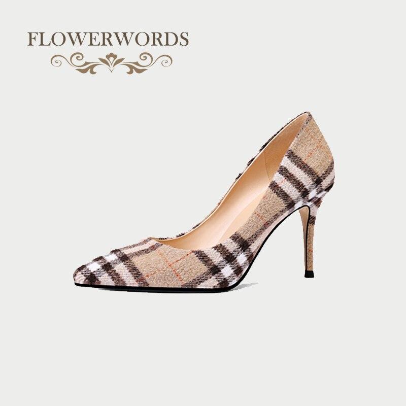 Lady Shoes Pumps Heels Women High-Heels Sexy Flock Woman Chaussure