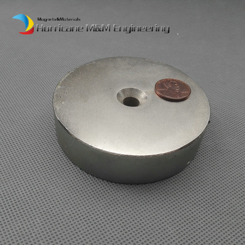 NdFeB Lifting Magnet Disc Dia. 80x20 mm 3 Round with Matching Screw Countersunk Hole N52 Neodymium Rare Earth Permanent Magnet ndfeb n42 magnet large disc od 100x10 mm with m10 countersunk hole 4 round strong neodymium permanent rare earth magnets
