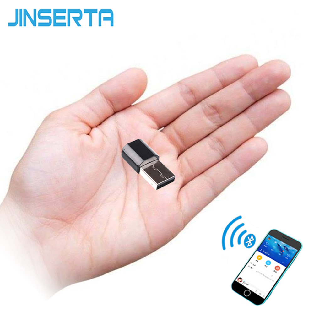 JINSERTA Portable Mini Bluetooth Receiver Adapter Stereo Music Wireless Speakers Audio Receptor USB 3.5mm RCA AUX for Amplifier 300mbps wireless mini usb adapter receiver 802 11n g b usb 2 0