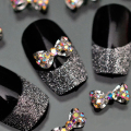 Popular 10Pcs 3D Alloy Glitter Rhinestone BowKnot Nail Art Salon Stickers Decor Tips DIY Decorations