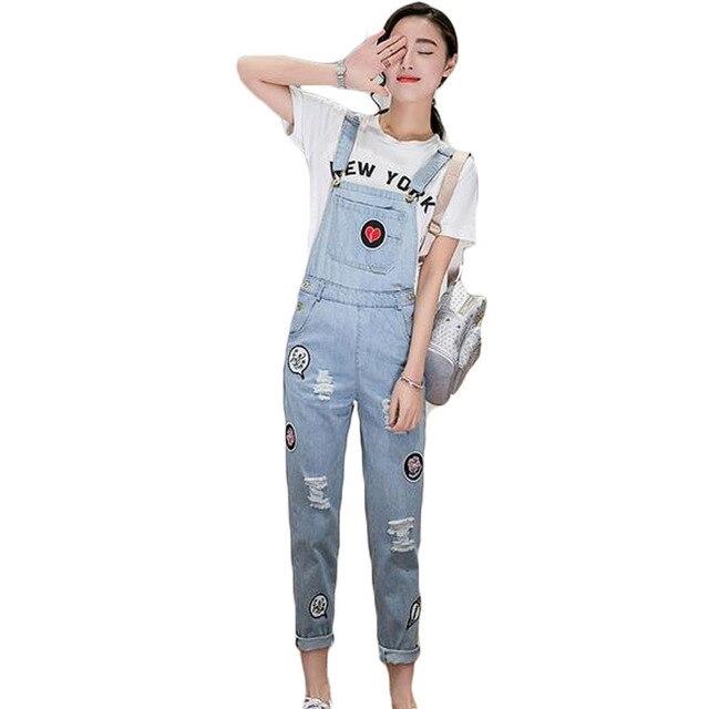 c8f41f1ea047 ZYFPGS Rompers Womens Jumpsuit 2016 Denim Overalls Women Bodysuit Summer  Sexy Jeans Playsuit Long Jumpsuit BDK008
