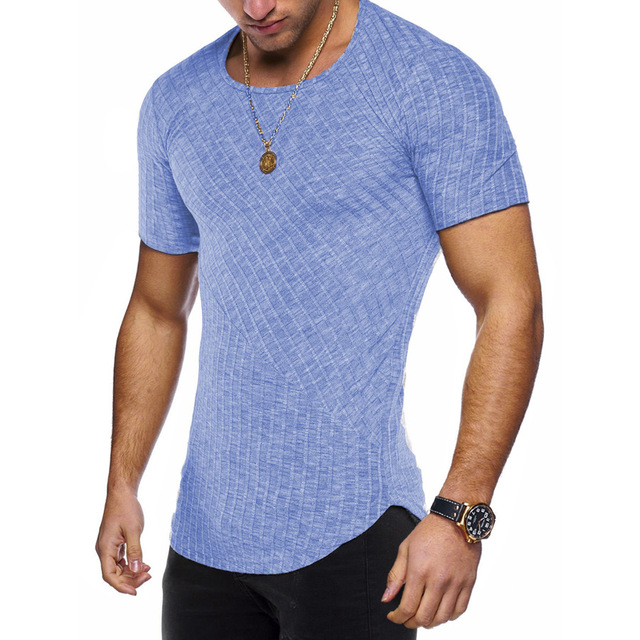 Round Neck Fitted T Shirt 4