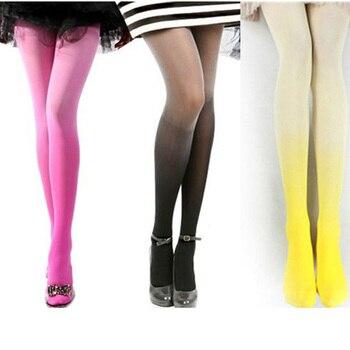 f01b783b6 Mulheres 60 CUHAKCI Denier Meias de Alta Qualidade Meia-calça Fina Meias  Coloridas Meias De Algodão Rosa Cinza Verde Nova Fêmea Meia-calça